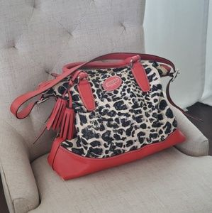 Coach Leoprad Red Bag